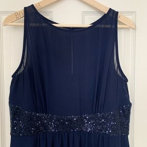 Gorgeous Navy Blue Formal long dress